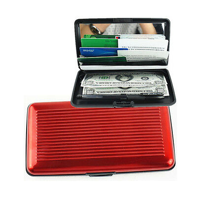 Wallet Credit Card Holder Protect RF ID Scanning Aluma Aluminum Case Slim