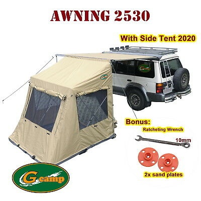 G CAMP 2.5M x 3M AWNING POP UP ROOF TOP TENT CAMPER TRAILER 4WD 4X4 CAMPING