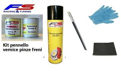 Vernice pinze freni alte temperature pennello e spray kit FS Racing Line 180gr