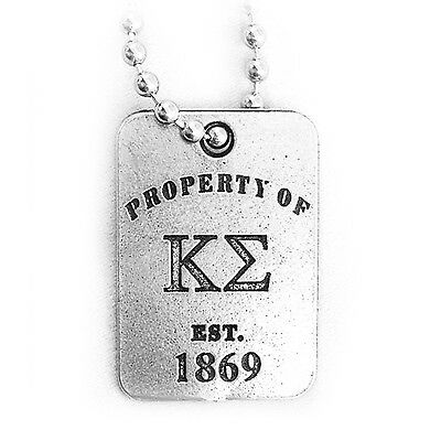 Kappa Sigma Property Of Dog Tag With Chain