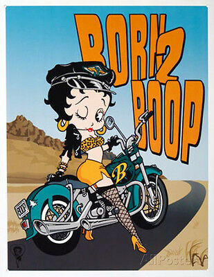 Betty Boop Born to Boop Tin Sign - 12.5x16