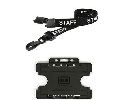 ID Card Holder Double Sided and Staff Lanyard Neck Strap