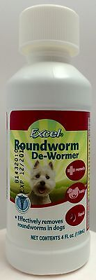 Eight In One Excel Roundworm Dog Puppy De-Wormer Breeder 4 fl oz Liquid 8 in 1