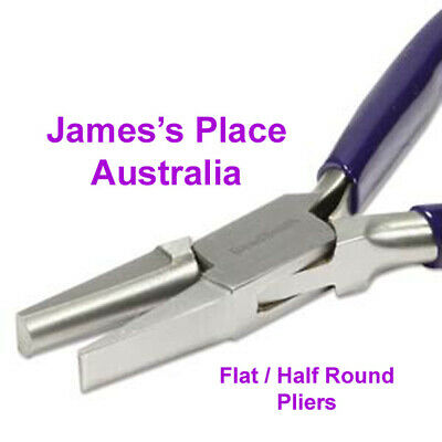 Half-Round / Flat Bending Pliers for bending & shaping wire & flat metal