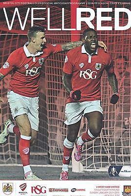 2014/15 - BRISTOL CITY v WEST HAM UNITED (FA CUP 4th ROUND - 25th JANUARY 2015)