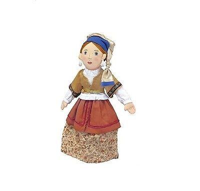 """Girl With A Pearl Earring Plush Doll by Merry Makers 12"""" New Sealed"""