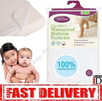 Clevamama ClevaBed Baby Cot Bed Fitted Waterproof Mattress Protector 70 x 140 cm
