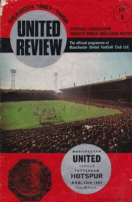 1967 CHARITY SHIELD - MAN UTD v TOTTENHAM
