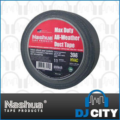 Nashua Gaffa 398 Cloth black 48mm x 25meter Tape - *Brand New* - DJ City