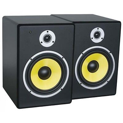 PDSM8 Power Dynamics Active 8-Inch Studio Monitor Pair  Real wood not like MS...