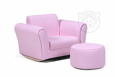 PINK LAZYBONES KIDS ROCKING Chair/Seat/Armchair/Sofa for Childrens in PU Leather