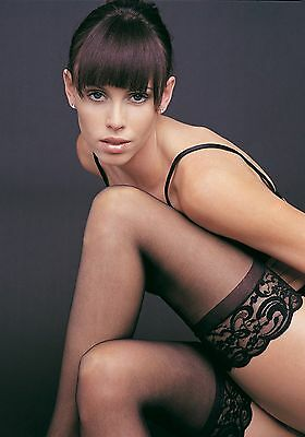 """Sheer Lycra Silicone Stay Ups Thigh High  3"""" Lace Top Stockings Aussie Seller"""