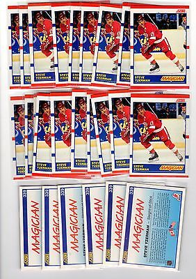3X STEVE YZERMAN 1990-91 Score #339 NMMT 3 for.99 Lots Available Red Wings