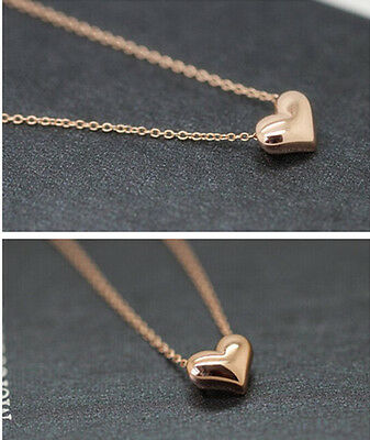 Gold Plated lovely Heart Womens Bib Statement Chain Jewelry Pendant Necklace