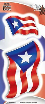 NEW Mindfull Designs - Set of 2 Puerto Rico Flags - Sticker / Decal