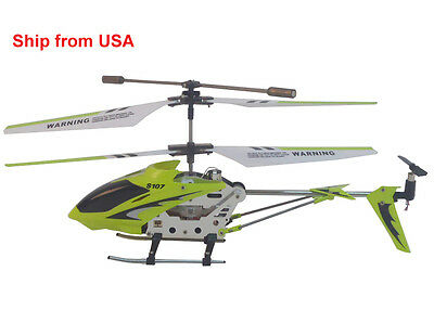 Genuine Syma S107 Remote controlled 3CH RC Helicopter with Gyroscope Green