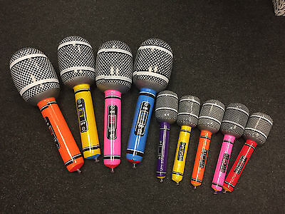 2 Sizes Inflatable Air Microphone Kids Children Toy Blow Up Party Fancy Karaoke