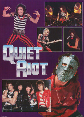 Poster: Music:  Quiet Riot - Montage Of Band -  Free Shipping !  #15-295  Rc39 O