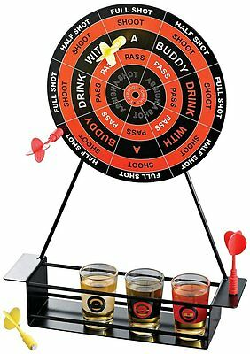 Crystal Clear Shot Glass Darts Bar Game Set, Free Shipping, New