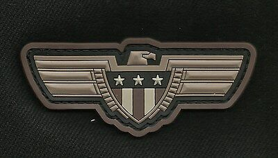 Eagle with Shield 3D PVC Velcro Tactical Badge Morale Military Patch - Swat