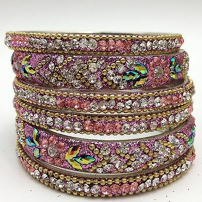 Indian Bridal/Party Wear Lakha Bangles (Size 2.4)(Set Of 6)