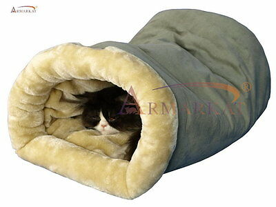 Armarkat Burrow Pet Cat Beds for Cats and Small Dogs, C15HHL/MH New