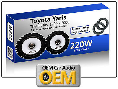 "Toyota Yaris Front Door speakers Alpine 6.5"" 17cm car speaker kit 220W"