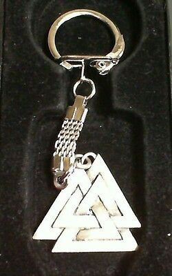 Valknut Symbol of Odin Pewter Pendant Keychain! New Thor Viking Norse Pagan