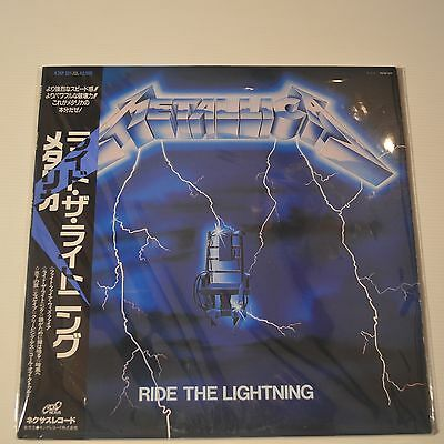 "Metallica - Ride The Lightning - 1984 Japan Lp ""nexus"" Label"