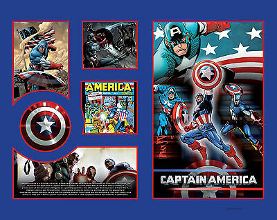 New Captain America Limited Edition Memorabilia Framed