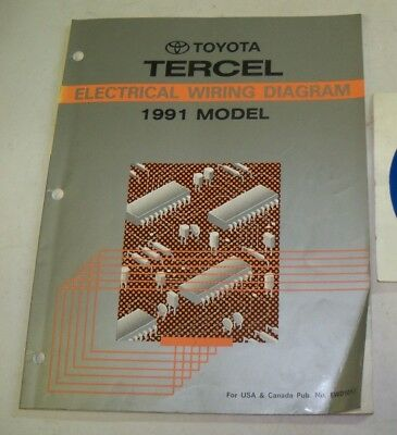 1991 TOYOTA TERCEL Repair Manual Engine Chis Body Electrical ... on 91 toyota t100, 91 toyota landcruiser, 91 toyota corolla dx, 91 toyota aristo, 91 toyota tundra, 91 toyota rav4, 91 toyota supra twin turbo, 91 toyota van, 91 toyota corolla sr5, 91 toyota corolla deluxe, 91 toyota wagon, 91 toyota corolla coupe, 91 toyota mr2, 91 toyota truck, 91 toyota camry, 91 toyota previa, 91 toyota tacoma 4x4, 91 toyota cresta, 91 toyota solara, 91 toyota chaser,