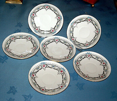 Pair Antique Art Deco Shelley English Bone China Small Plate Saucer 11155