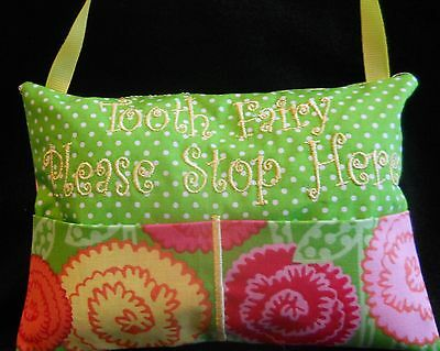 Personalized Handmade Cute Girly Tooth Fairy Pillow