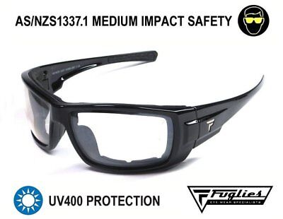 Fuglies PC21 Clear Safety Glasses - AS/NZS1337.1 Foam Backed