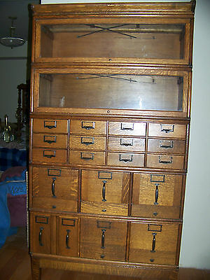 BEAUTIFUL GLOBE WERNICKE BOOKCASE AND FILE