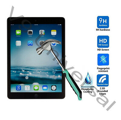 Genuine Tempered Glass Film Screen Protector For Apple iPad 5 & 6 iPad Air 1 & 2