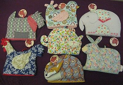Tea Cosy Shaped By Ulster Weavers Cat Fox Birdie Chicken Rabbit Dog Elephant