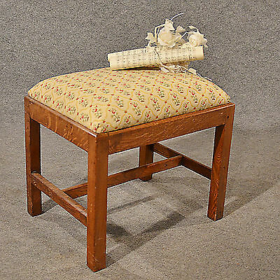 Antique Dressing Music Fireside Stool Footstool English Oak Victorian c1900