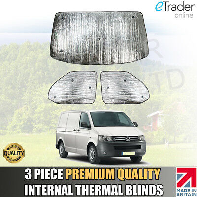 VW T5 INTERNAL THERMAL BLINDS Interior Blind KIT WINDSCREEN COVER 3pc QUALITY