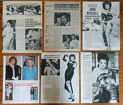 JANE RUSSELL spanish clippings 1960s/1980s photos actress vintage magazine