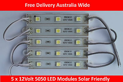 10 x 12v Waterproof 5050 LED Modules Strips,5050WM, Modern and Pure White
