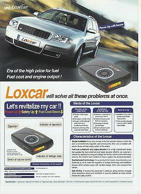Automotive Gas Saver with Performance Enhancement Device, LOXCAR