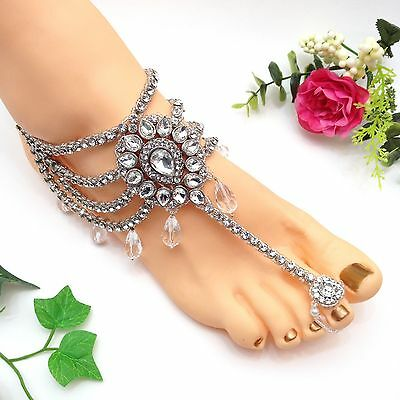 Indian Jewellery Asian Party Bridal Ethnic Wear Bollywood Anklet Payal Pazaib