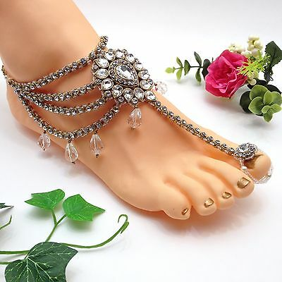 Indian Jewellery Asian Bridal Party Ethnic Wear Bollywood Anklet Payal Pazaib