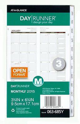 Day Runner Compact Monthly Planner Refill 2015 by Day Runner OOO
