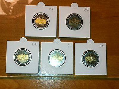 Be 5 X 2 Euro Allemagne 2007 A D F G J Commemorative Belle Epreuve Pp Proof