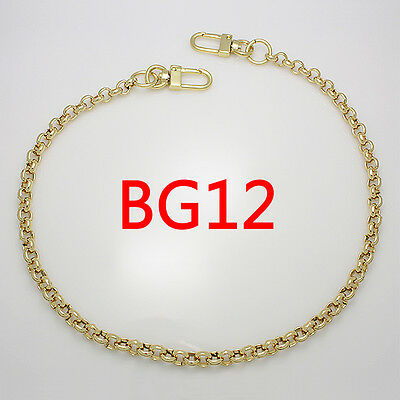 BG12 purse metal chain strap replacement gold crossbody shoulder strap handbag