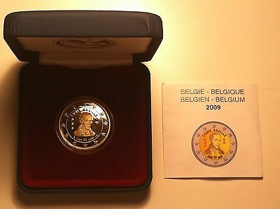 Be 2 Euro Belgique 2009 Louis Braille Neuve Pp Proof Belle Epreuve