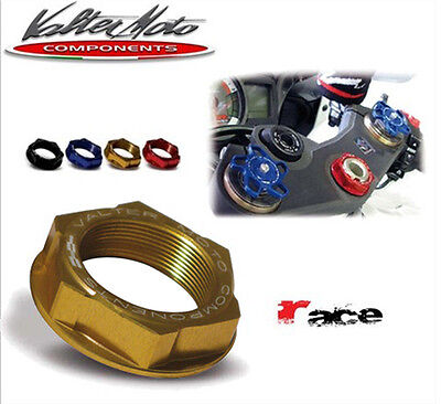 Dado canotto ergal, Yoke Stem Nut, Valtermoto, Suzuki GSR 750 (11/14) Gold, DC02