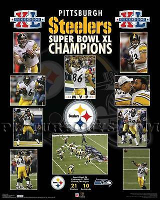 Pittsburgh Steelers Super Bowl 40 Championship Picture Plaque
